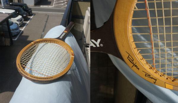 ベランダのラケット